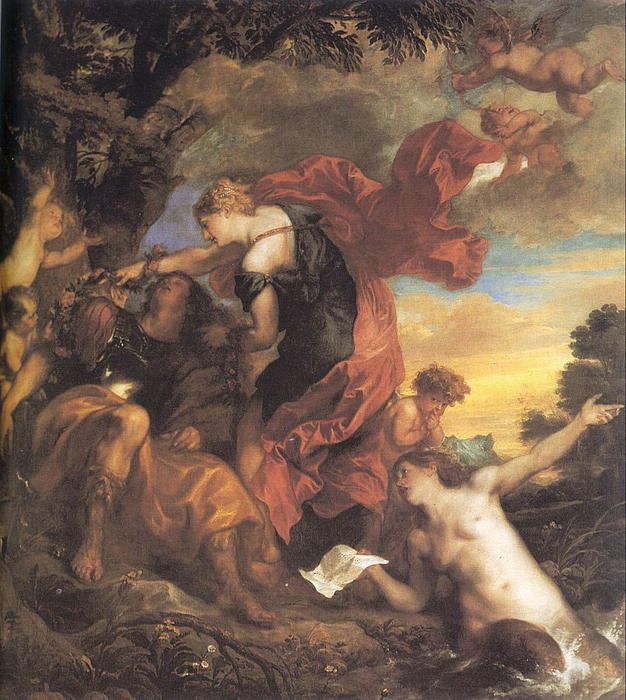Wikioo.org - The Encyclopedia of Fine Arts - Painting, Artwork by Anthony Van Dyck - Rinaldo and Armida