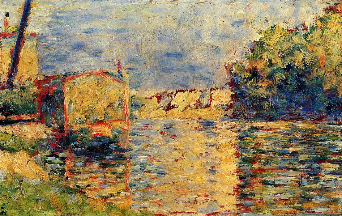 Wikioo.org - The Encyclopedia of Fine Arts - Painting, Artwork by Georges Pierre Seurat - River's Edge