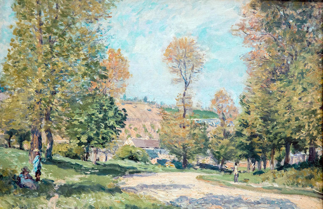 Wikioo.org - The Encyclopedia of Fine Arts - Painting, Artwork by Alfred Sisley - Road to Louveciennes