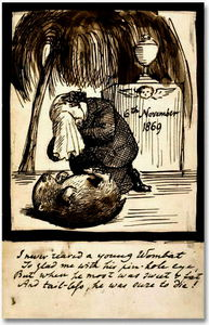 Rossetti Lamenting the Death of His Wombat