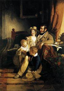 Rudolf von Arthaber with his Children