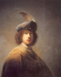 Self Portrait with Plumed Beret