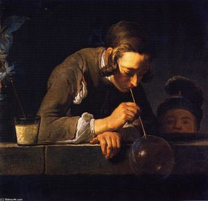 'Soap Bubbles (also known as Young Man Blowing Bubbles)'