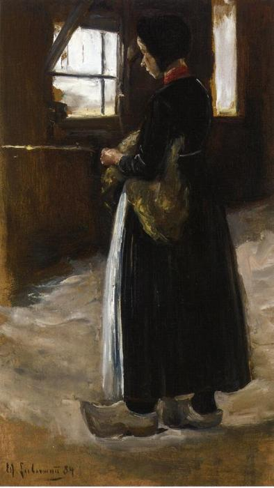 Wikioo.org - The Encyclopedia of Fine Arts - Painting, Artwork by Max Liebermann - Spinner