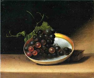 Still Life with Grapes and Dish