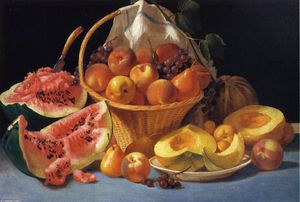 Still Life with Melons, Peaches and Grapes