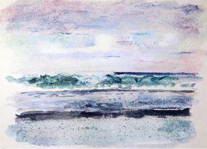Study of Surf, Breaking on Outsiide Reef Tautira, Taiarapu, Tahiti, March 1891