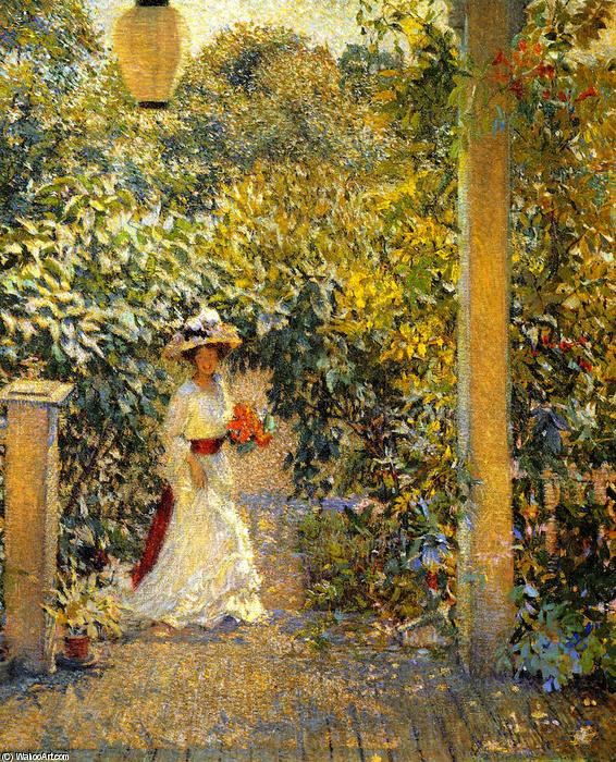 Wikioo.org - The Encyclopedia of Fine Arts - Painting, Artwork by Philip Leslie Hale - A Summer Visitor