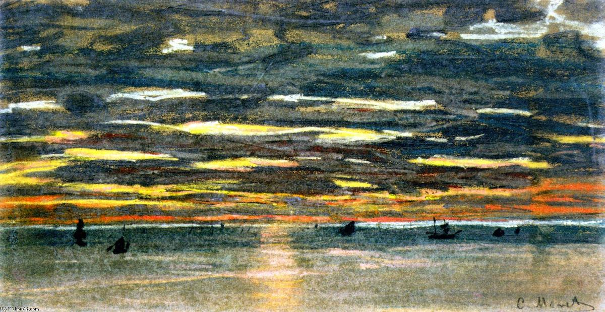 Wikioo.org - The Encyclopedia of Fine Arts - Painting, Artwork by Claude Monet - Sunset over the Sea