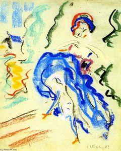Tänzerin mit blauem Rock