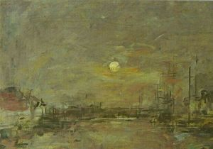 Twilight over the Basin of Le Havre
