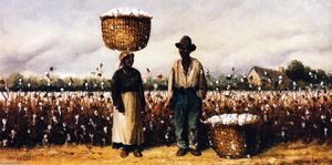 Two Cotton Pickers in a Field