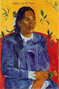 Vahine no te Tiare (also known as Woman with a Flower)