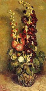 Vase with Holyhocks