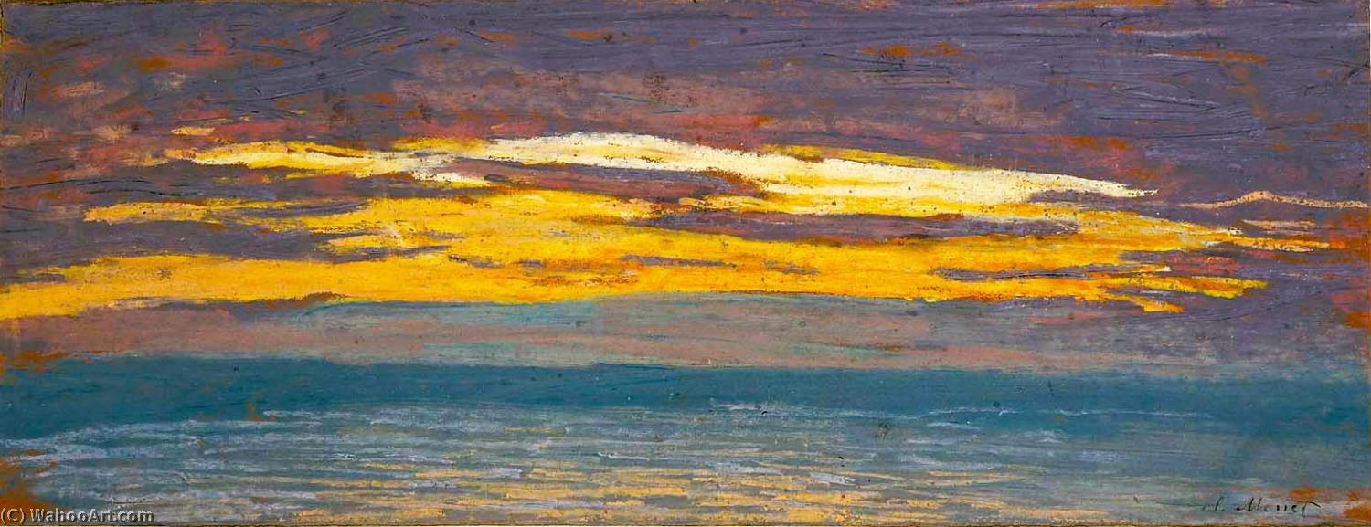 Wikioo.org - The Encyclopedia of Fine Arts - Painting, Artwork by Claude Monet - View of the Sea at Sunset
