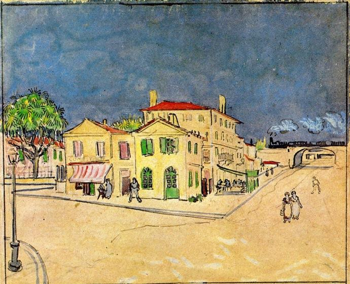 Wikioo.org - The Encyclopedia of Fine Arts - Painting, Artwork by Vincent Van Gogh - 'Vincent's House in Arles (also known as The Yellow House)'