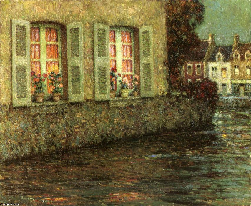 Wikoo.org - موسوعة الفنون الجميلة - اللوحة، العمل الفني Henri Eugène Augustin Le Sidaner - Windows