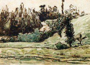 Wooded Hillside near Vichy
