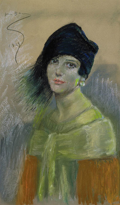 Wikioo.org - The Encyclopedia of Fine Arts - Painting, Artwork by Alice Pike Barney - Young Woman in Black Hat