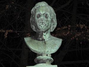The Swedish Sculptor Bengt Erland Fogelberg At Ostra Kyrkogården In Gothenburg