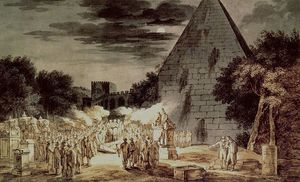 Naechtliche Bestattung An Der Pyramide Cestio