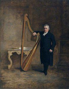 Griffith Owen, Harpist To The Corbet Family Of Ynysymaengwyn