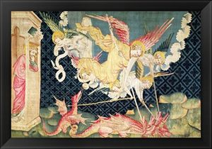 St Michael And His Angels Fighting The Dragon
