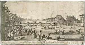 View Of Pisa During The Bridge Game