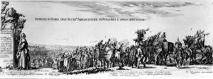 Wjazd Poselstwa Jerzego Ossolinskiego Do Rzymu