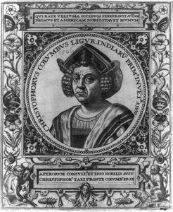 Christopher Columbus Engraving