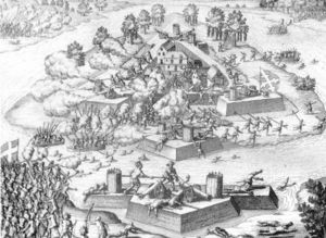 Engraving Of The Massacre At Fort Caroline