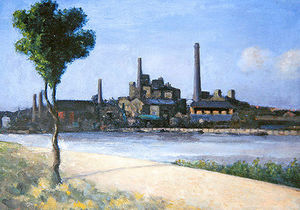 River With Factories