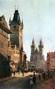 View Of Staromestsky Rynk With The Town Hall And