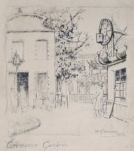 James Mcneill Whistler In The Cremorne Gardens