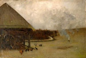 Farmyard Scene With Poultry -