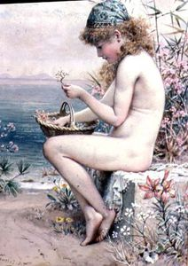Girl With A Basket Of Coral