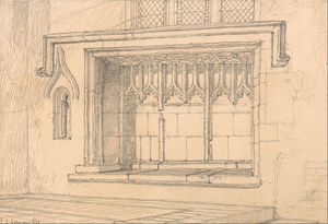 Un sedilia En Upwell Iglesia, Norfolk