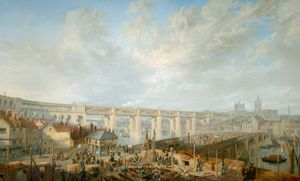 The High Level Bridge, From Gateshead, Tyne And Wear