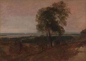 Landscape Study At Sunset