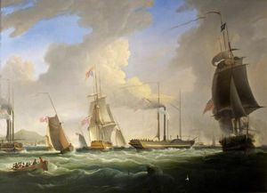 George Iv On Board The 'lightning', The First Post Office Steam Packet To Dublin