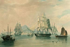 Opium Ships At Lintin