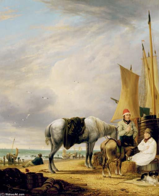 Wikioo.org – L'Enciclopedia delle Belle Arti - Pittura, Opere di Alfred George Stannard - Yarmouth Beach