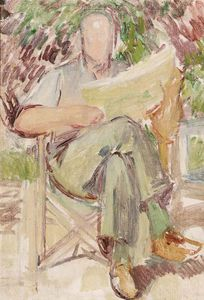 Study Of Clive Bell At Charleston Manor