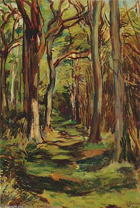 WikiOO.org - Encyclopedia of Fine Arts - Schilderen, Artwork Duncan Grant - The Glade, Firle Park, East Sussex