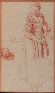 A Woman Pouring A Glass From A Pitcher