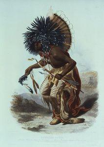 Moennitarri Warrior In The Costume Of The Dog Danse -