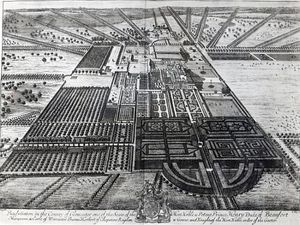Badminton House In The County Of Gloucester; Engraved By Johannes Kip