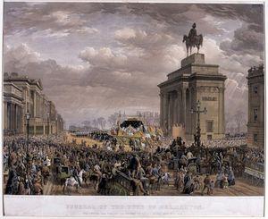 The Duke Of Wellington's Funeral Car Passing