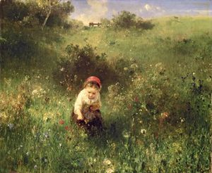 A Young Girl In A Field -