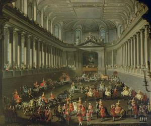 A Cavalcade In The Winter Riding School Of The